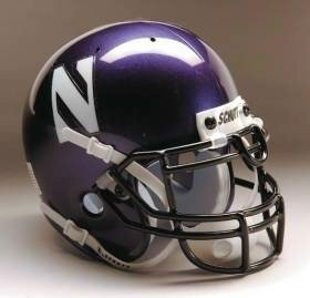 Northwestern Wildcats Schutt Authentic Full Size Helmet by Unknown