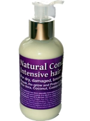 Intensive Natural Conditioning Hair Treatment - Repair, Re-grow and Protect, with Panthenol, Coconut and Castor Oils (150ml) from SheaByNature