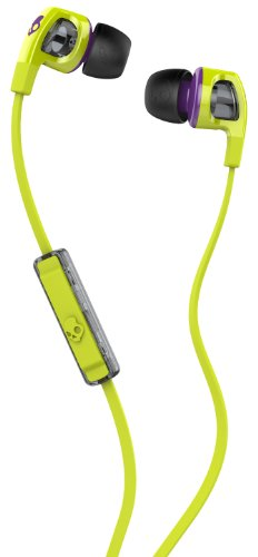 Skullcandy Smokin Bud 2 In Ear Headphones With Microphone - Hot Lime/Purple