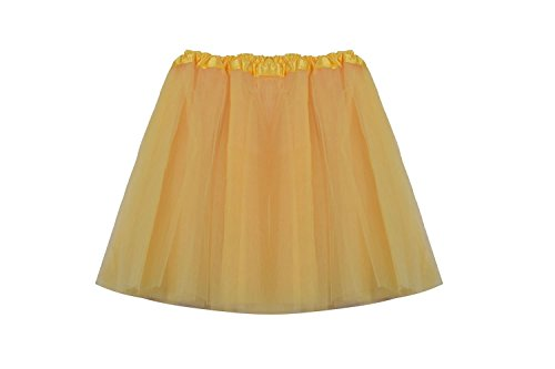 [SUNNYTREE Women Party Dress Yellow Tutu Tulle Dance Ballet Skirt Yellow] (Light Up Black Tutu)