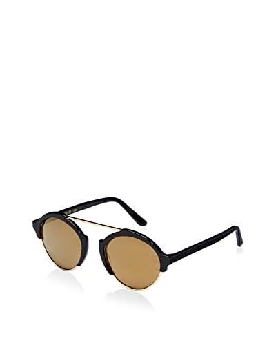 Illesteva Women's MIL3-1GOM Milan III Sunglasses, Black/Gold Mirror