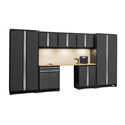 Pro 3.0 Series 8-Piece Garage Storage Cabinet Set with Worktop (Newage Cabinets Pro compare prices)