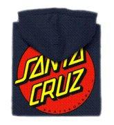 Santa Cruz Boy's Classic Dot Pullover Hooded Sweatshirt Small Black