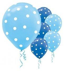 20 ct Blue Polka Dot Balloons