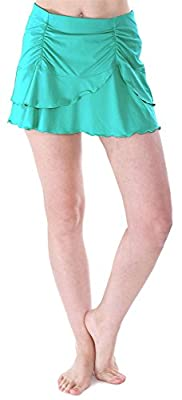 Bawdy Women's Summer Solid Colored Cover Up Skirt