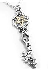 Gothic Forbidden Magic Key of Solomon Pendant Necklace