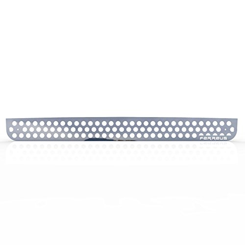 Polished Stainless Circle Punch Grille Grill Insert Trim fits: 2005-2010 Hummer H3 - Ferreus Industries - TRK-132-03