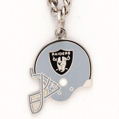 Oakland Raiders Official Logo Helmet Necklace