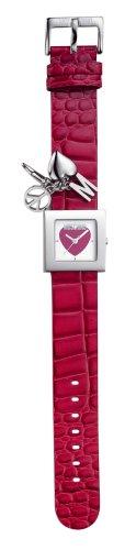 Moschino 7751100935 - Orologio da polso da donna, cinturino in pelle colore rosso