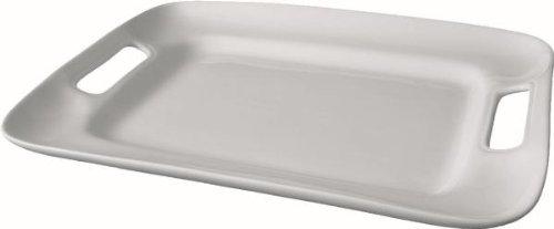 WAS 4731360 porcelaine avec poignées latérales-plateau rectangulaire - 36 x 25 cm