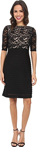 Christin Michaels Womens Lace Top Sheath Dress