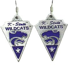 College Earrings - Kansas State Wildcats