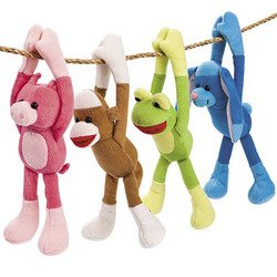 LONG ARM SOCK MONKEY & FRIENDS (1 DOZEN) - BULK (Sock Teddy Bear compare prices)