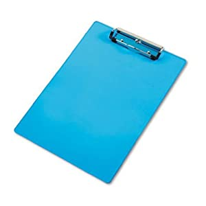 Saunders Acrylic Clipboard, Letter Size 8.5 x 12 Inches, Blue (21567)