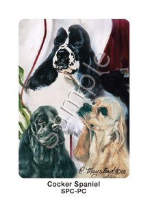 Best Friends Playing Cards, by Ruth Maystead - Cocker Spaniel