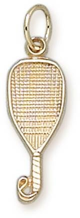 Racquetball Racquet Charm - 14KT Gold Jewelry