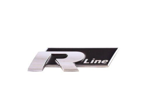 Sumex Log1934 Race Sport - Emblema Cromato, Nero R-Line, 55X23 mm