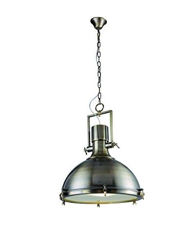 Urban Lights Industrial 1-Light Pendant Lamp, Antique Brass