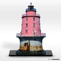 "Amazon.com: Miah Maull Shoal Lighthouse 5"" X 8"" Photo Sculpture: Home"