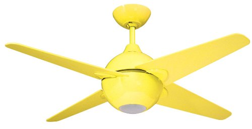 Yosemite Home Decor Spectrum42Y 42-Inch Ceiling Fan With Light Kit, Yellow