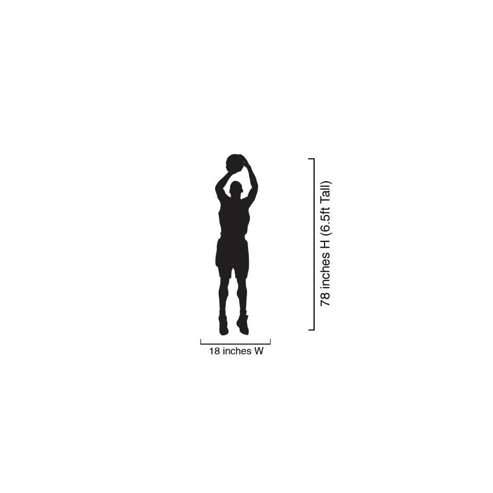 Vinyl Wall Art Decal Sticker Basketball Player Shooting 18 Wide x 78 Tall (6.5ft) #339