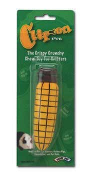 Clip On Wood Chew Toy Corn