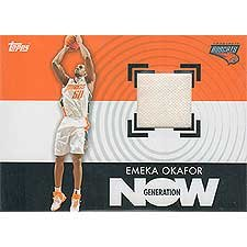 """Emeka Okafor 2007 / 2008 Topps """"Generation Now Relics"""" #GNR-EO Authentic Game Used Jersey (White Swatch) Insert Card."""