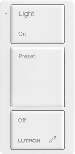 Lutron M2-3B-L-Wh Maestro Wireless Pico 3-Button Control, White
