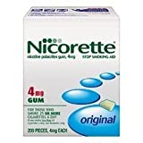Nicorette- 4mg Original Gum, 200 pieces