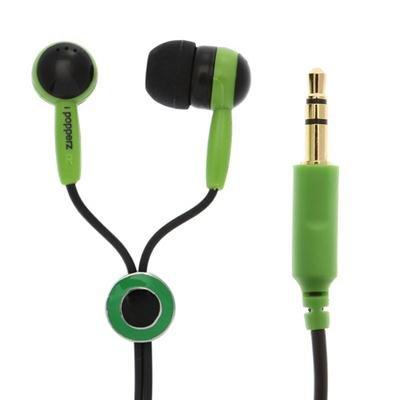 Ipopperz Ip-Clz-4002 Ear Bud (Black/Green)