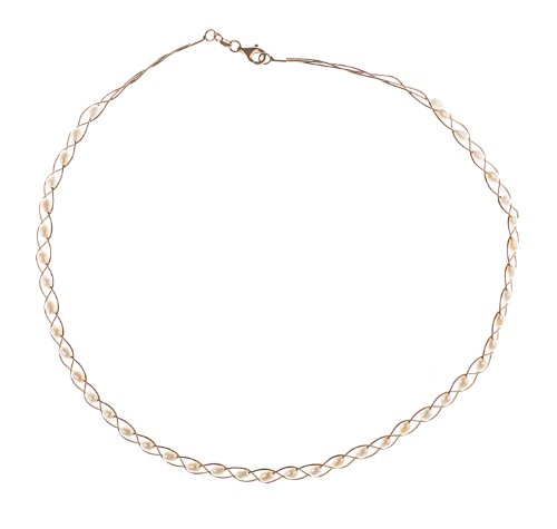 9ct Yellow Gold Pearl Necklace of 40.64cm