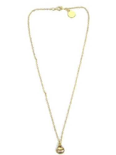 Petite Sea Shell Necklace Aquatic Ocean Mermaid Gold Tone ND38 Oyster Pendant Beach Fashion Jewelry