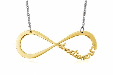 Stainless Steel Necklaces Infinity Directioner Gold Color