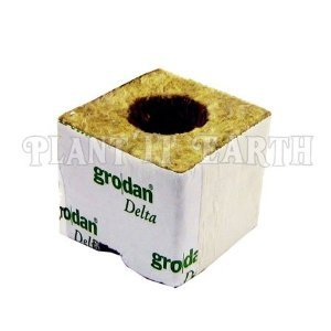 Gro-Blocks - 3 in. x 3 in. x 2.5 in. 8 Wrapped Blocks - DM4 (Rockwool / Stonewool) Grodan
