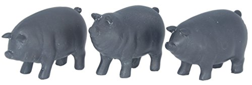 Set of 3 Special T Imports Miniature Chalkboard Pig Figurines (Chef Pig Statue compare prices)