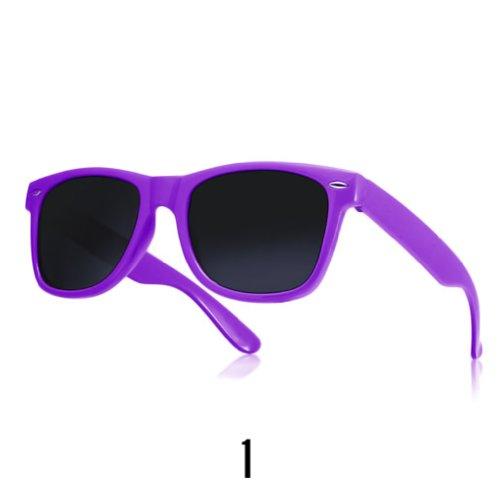 Sonnenbrille Nerdbrille retro Wayfarer Unisex Herren/Damen Sonnenbrille, UV-Schutz 400, Schildpatt Herren Sonnenbrille Spicoli 4 Shades, Tortoise Aussen, One size (1)