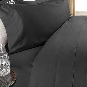 Luxurious BLACK Solid / Plain, QUEEN Size. EIGHT