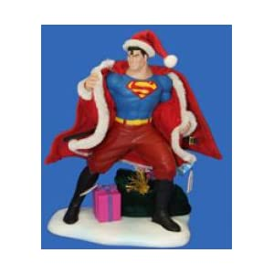 Superman Hand Crafted Fabriche Santa Outfit Statue Amazon