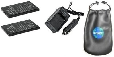 ValuePack (2 Count): Digital Replacement Battery PLUS Mini Battery Travel Charger for Specific Digital Camera and Camcorder Models / Compatible with Panasonic DMW-VBA05, CGA-S003, Panasonic SV-AS series: SV-AS10, SV-AS10-A, SV-AS10-D, SV-AS10-G, SV-AS10EG-A, SV-AS10EG-D, SV-AS10EG-S, SV-AS10PP-S, SV-AS30, Panasonic SV-AV series: SV-AV50, SV-AV50A, SV-AV50EG-A, SV-AV50PP-S, SV-AV50S, SV-AV50T - Includes Car Adapter, TWO Batteries and ONE Leatherette Camera / Lens Accessories Pouch