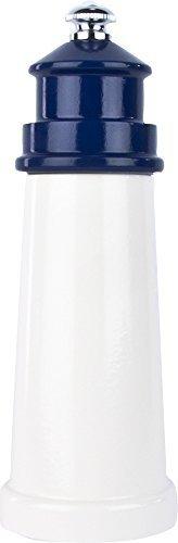 Fletchers' Mill Lighthouse Pepper Mill, White/Cobalt - 6 Inc