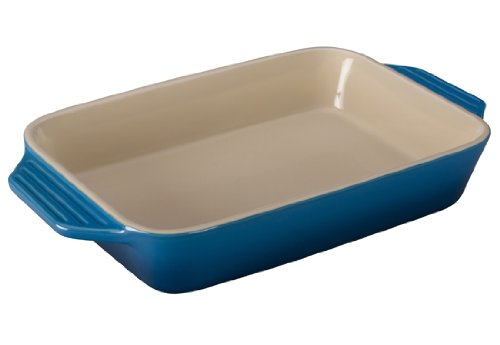 Le Creuset Stoneware Rectangular Dish, 12.5 By 8.25-Inch, Marseille