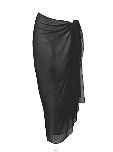 Chiffon Sarong, Widest Choice of Colours & Designs: Black