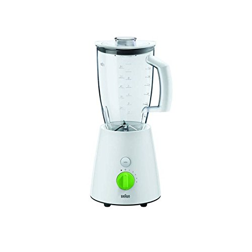 Braun JB3010 TributeCollection 800W Blender, 220V (Not for USA), White/Green (Braun Juicer Usa compare prices)