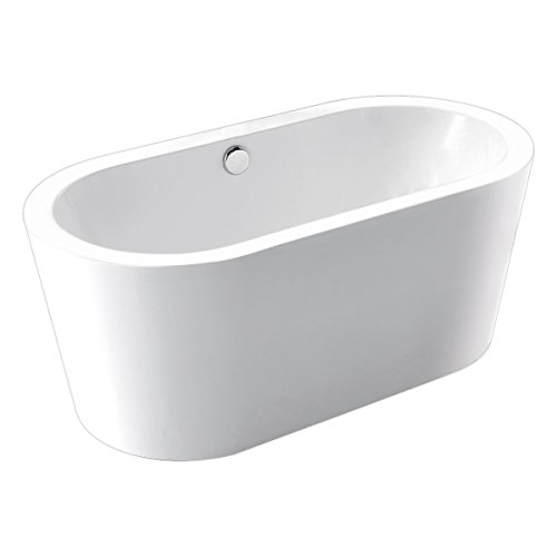 Kaifeng Modern Freestanding Acrylic Soaking Bathtub, Glossy White, KC-715KC (Freestanding Bathtub Fixture compare prices)