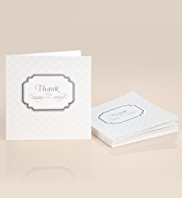 8 Luxury Wedding Thank You Multipack Card
