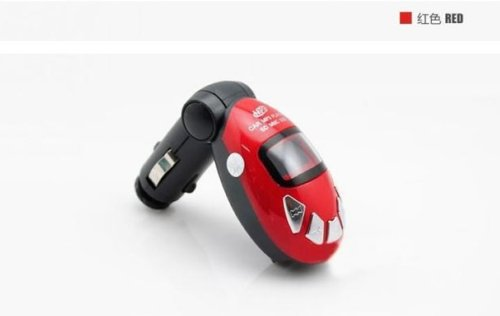 Carry360 The Beatles Red Car Mp3 Player, Fm Transmitter, Support Tf/Sd Card/U Disk/Remote Control
