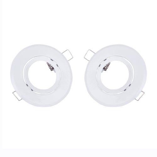 2 x 88mm MR16 Spotlight Mounting Brackets for Recess LED / Halogen Fixture Light---White