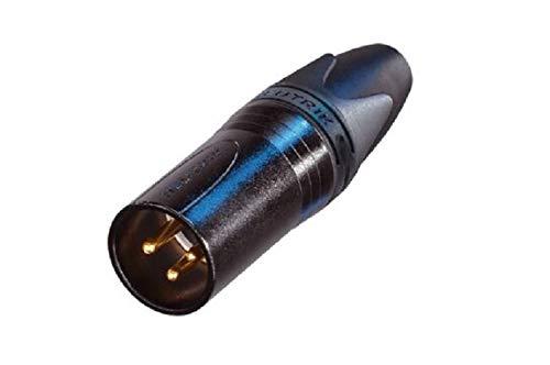 Neutrik NC3MX-B 3-Pin M Cable MT XLR, Black with Gold Contacts (Color: Black)