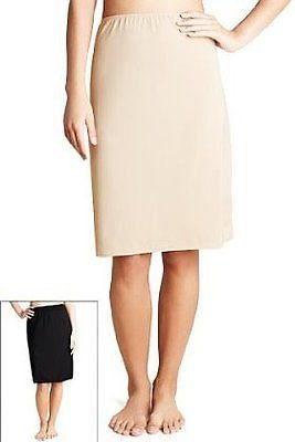 M&S Waist / Half Slip, Underskirt , 3 lengths, 3 Colours ?[10,Black,19 inches,0188]