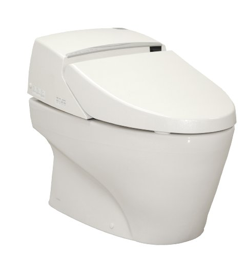 TOTO MS990CGR-01 Neorest Elongated Toilet and Washlet Unit with Metallic Stick Remote, Cotton White